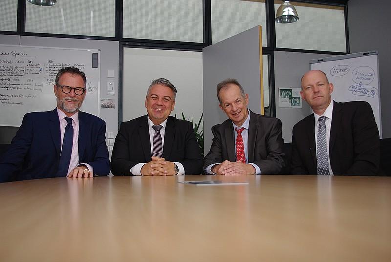 Die Geschäftsführer: A. Griesbaum, L. Donner, J. Eberspächer, M. Faderl